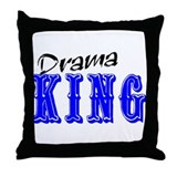 Drama King Throw Pillow