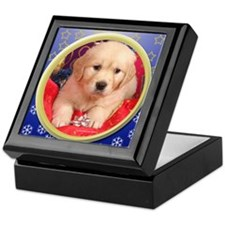 GOLDEN RETRIEVER CHRISTMAS GIFT PUPPY KEEPSAKE BOX