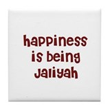 happiness is being Jaliyah Tile Coaster
