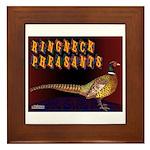 Ringneck Pheasants Framed Tile