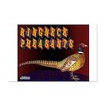 Ringneck Pheasants Mini Poster Print