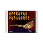 Ringneck Pheasants Rectangle Magnet