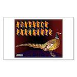 Ringneck Pheasants Rectangle Sticker