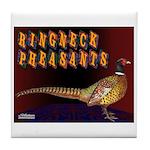 Ringneck Pheasants Tile Coaster