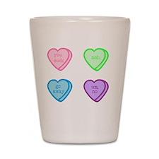 Cute Candy hearts Shot Glass