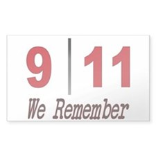 9 11 We Remember Rectangle Decal