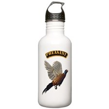 Pheasant with Text Water Bottle
