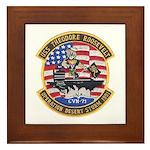 USS Roosevelt Desert Storm Framed Tile