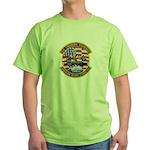 USS Roosevelt Desert Storm Green T-Shirt