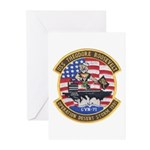 USS Roosevelt Desert Storm Greeting Cards (Package