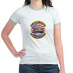 USS Roosevelt Desert Storm Jr. Ringer T-Shirt