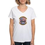 USS Roosevelt Desert Storm Women's V-Neck T-Shirt
