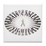 BRAIN CANCER FIGHTER Tile Coaster