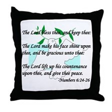 """Lord Bless Thee"" Throw Pillow"