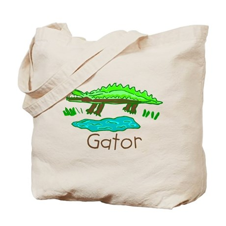 Kid Art Alligator Tote Bag