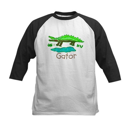 Kid Art Alligator Kids Baseball Jersey