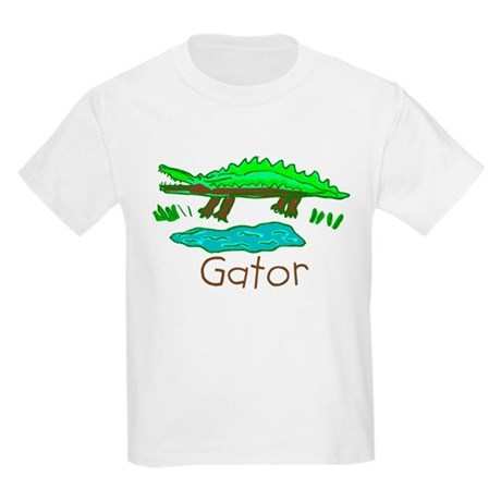 Kid Art Alligator Kids Light T-Shirt