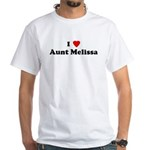 I Love Aunt Melissa White T-Shirt