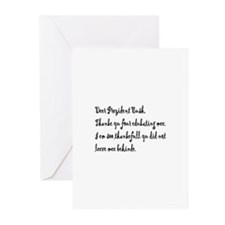 """Thanke yu"" Greeting Cards (Pk of 10)"