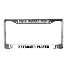 Keyboard Player License Plate Frame