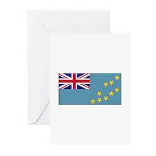 Tuvalu Flag Greeting Cards (Pk of 10)