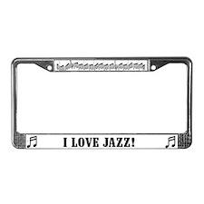 I Love Jazz License Plate Frame