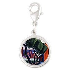 Bluemner - Approach of Night-H Silver Round Charm