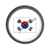 South Korea Flag Wall Clock