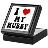 I Love (Heart) My Hubby Keepsake Box