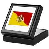 Sicily - Sicilian Flag Keepsake Box