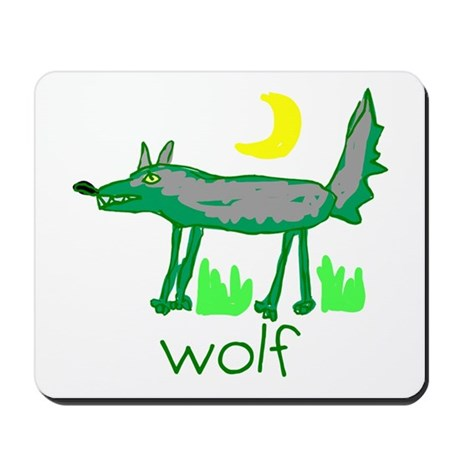 Kid Art Wolf Mousepad
