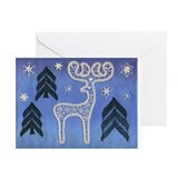 Lace Reindeer Greeting Cards (Pk of 10)