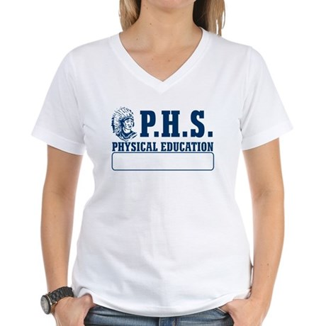 P.H.S. Physical Education Womens V-Neck T-Shirt