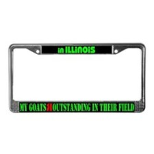 Illinois Goats License Plate Frame