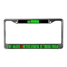 Iowa Goats License Plate Frame