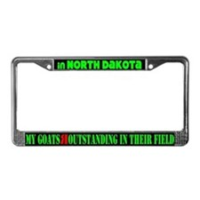 North Dakota Goats License Plate Frame