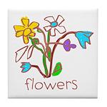 Kid Art Bouquet Tile Coaster