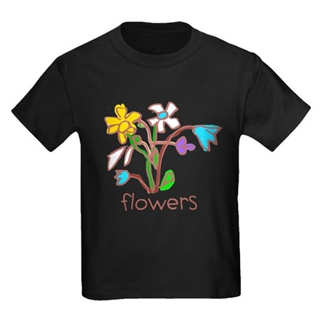 Kid Art Bouquet Kids Dark T-Shirt