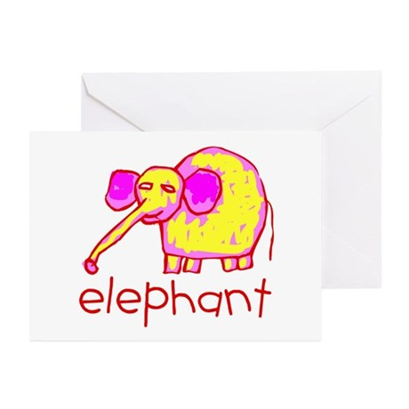 Kid Art Elephant Greeting Cards (Pk of 10)