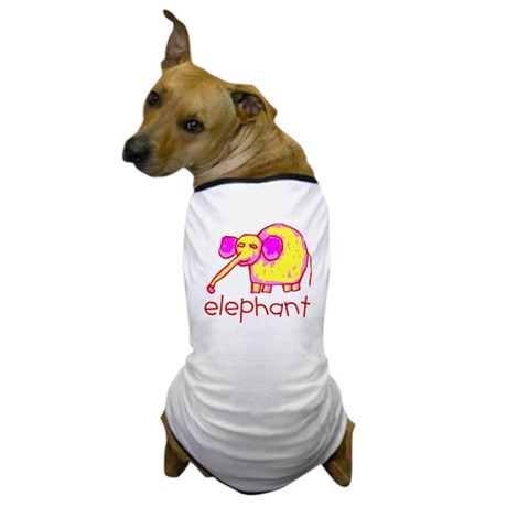Kid Art Elephant Dog T-Shirt