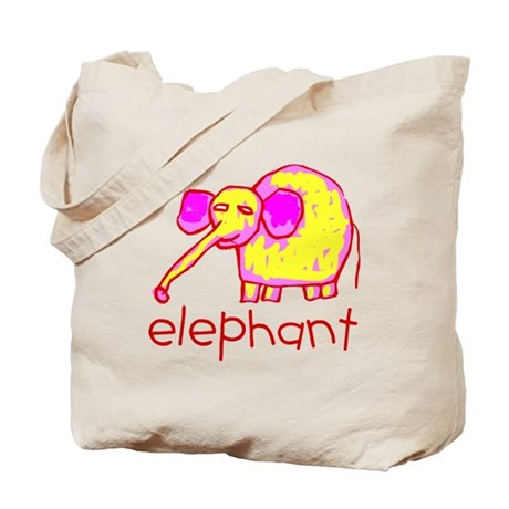 Kid Art Elephant Tote Bag
