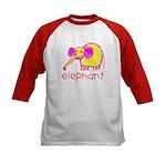 Kid Art Elephant Kids Baseball Jersey