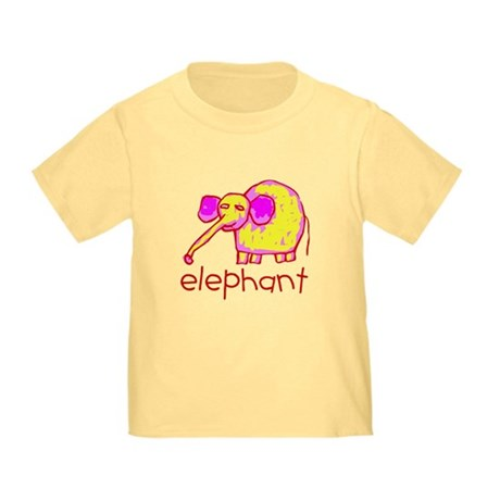 Kid Art Elephant Toddler T-Shirt