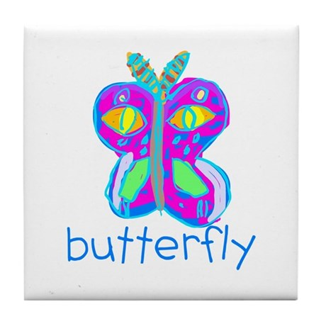 Kid Art Butterfly Tile Coaster