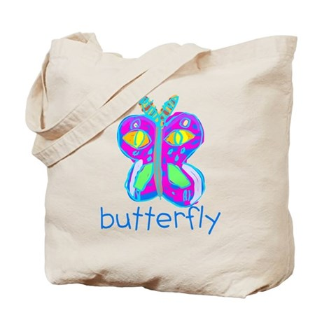 Kid Art Butterfly Tote Bag