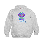 Kid Art Butterfly Kids Hoodie