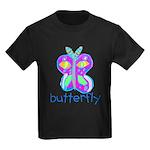 Kid Art Butterfly Kids Dark T-Shirt