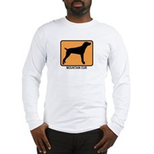 Mountain Cur (simple-orange) Long Sleeve T-Shirt