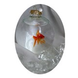 Goldfish Oval Ornament