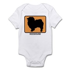 Keeshound (simple-orange) Infant Bodysuit